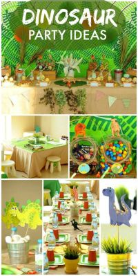 499 best Boy's Dinosaur Birthday Party images on Pinterest