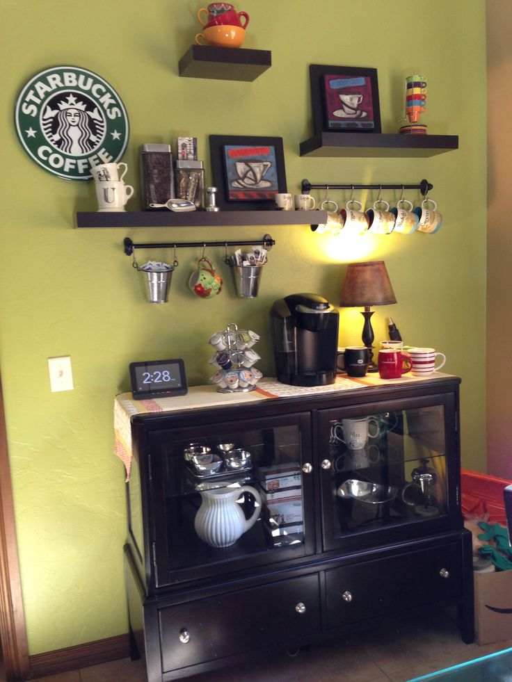 1000 ideas about Home Coffee Bars on Pinterest  Coffee stations Coffee nook and Bar