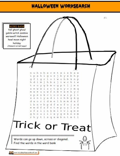 Halloween Word Phrase Worksheet