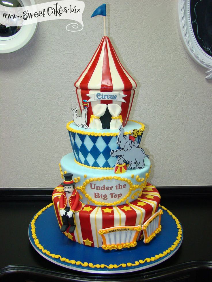 17 Best Images About Carnival And Circus Cakes On