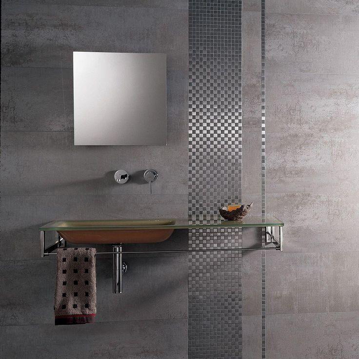 PORCELANOSA 26 in x 17 in Ferroker Aluminio Porcelain