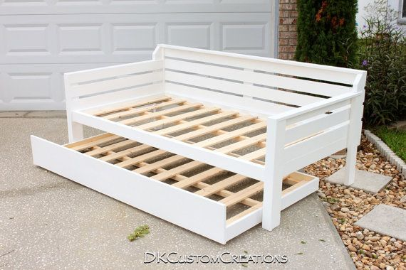 diy daybed sofas 7 sofala street portland handmade and trundle. solid pine wood with a white ...