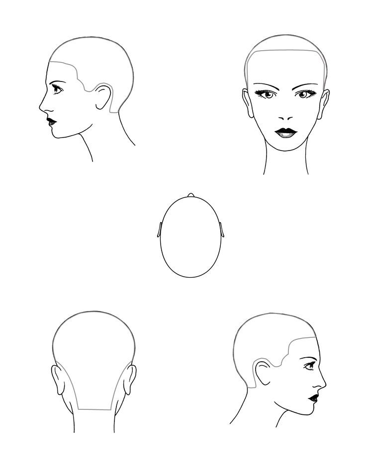 hair cutting diagrams