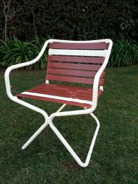 Tropitone Vintage White Mid Century Modern rectangular ...