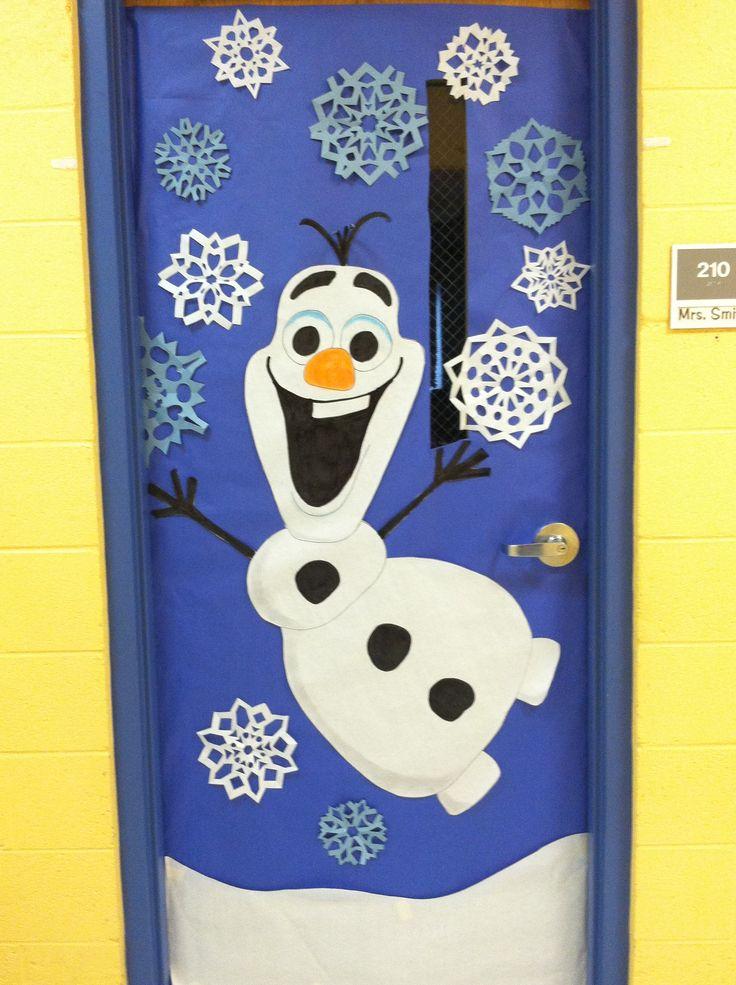 Winter door decoration. OLAF from Frozen