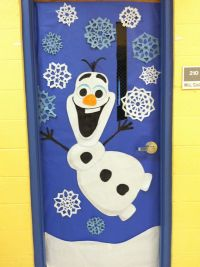 Winter door decoration. OLAF from Frozen