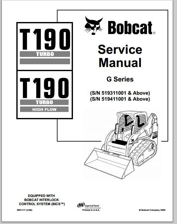 Bobcat T190 Turbo T190 Turbo High Flow Compact Track