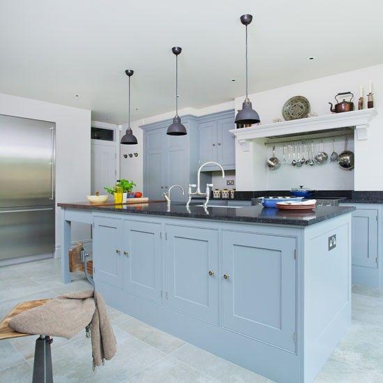 1000 ideas about Blue Grey Kitchens on Pinterest  Blue