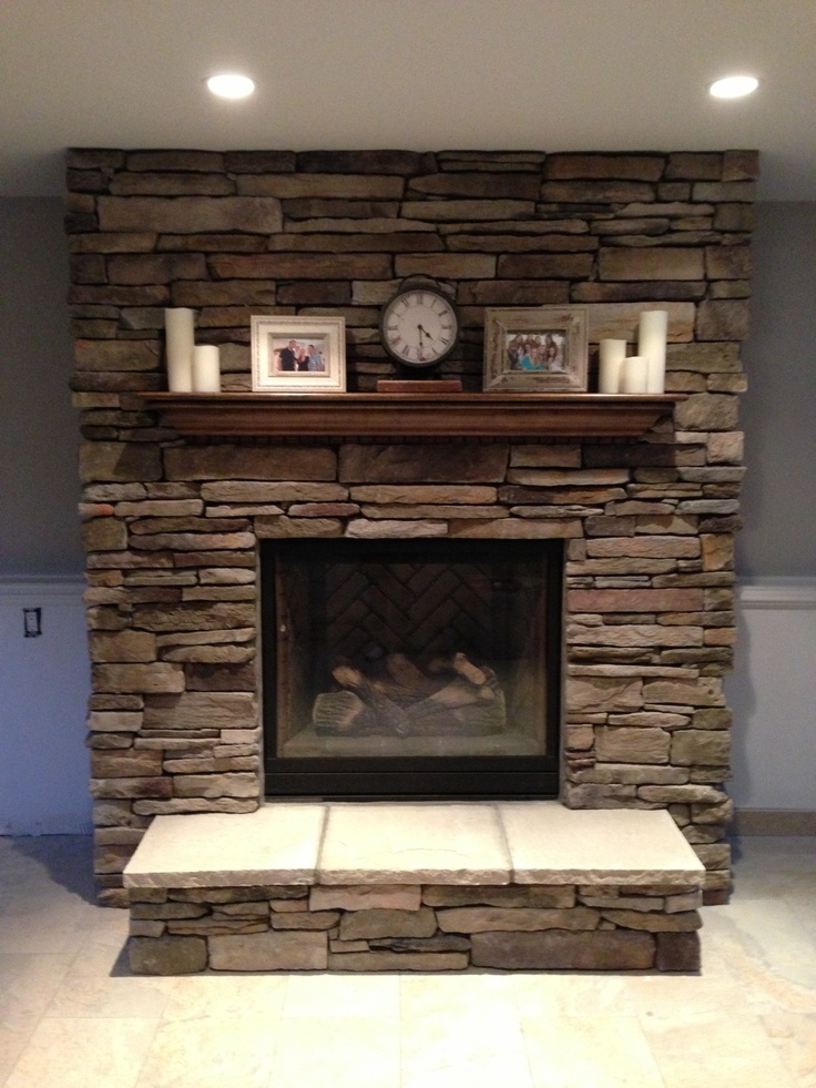 #fireplace #mantel #brick