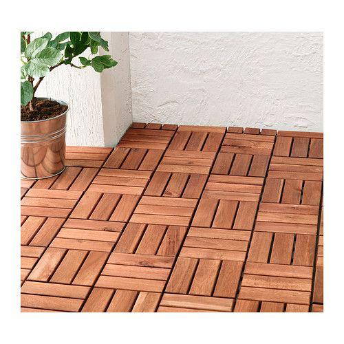 RUNNEN Floor decking outdoor brown stained  Decking