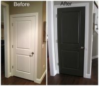 black interior doors before and after | Door- before and ...