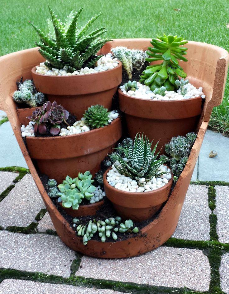 25 Best Ideas About Broken Pot Garden On Pinterest Fairy Pots