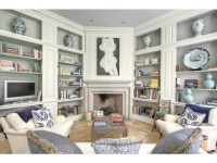 Built-ins on 2 walls with a corner fireplace ~ Keith ...