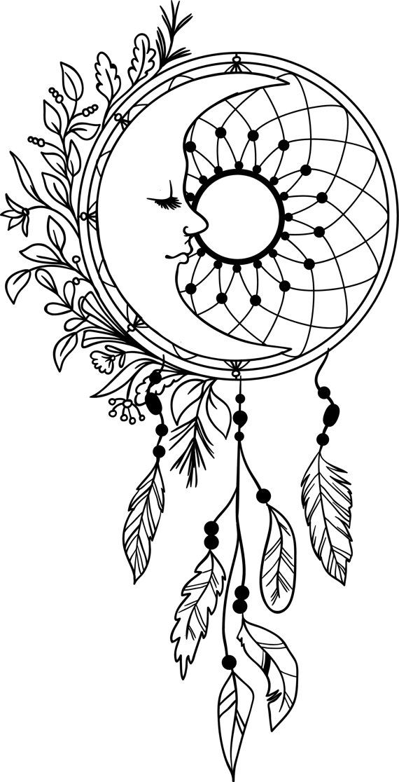 De 134 bästa DreamCatcher Coloring Pages for Adults