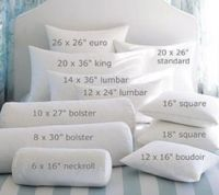 Standard pillow insert sizes | Accessories for the Home ...