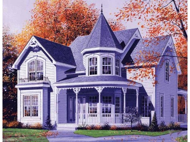 Small Queen Anne Plans  I would love this little house  Home Sweet Home  Pinterest  Queen