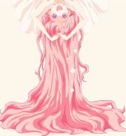 anime pink hair girl - google