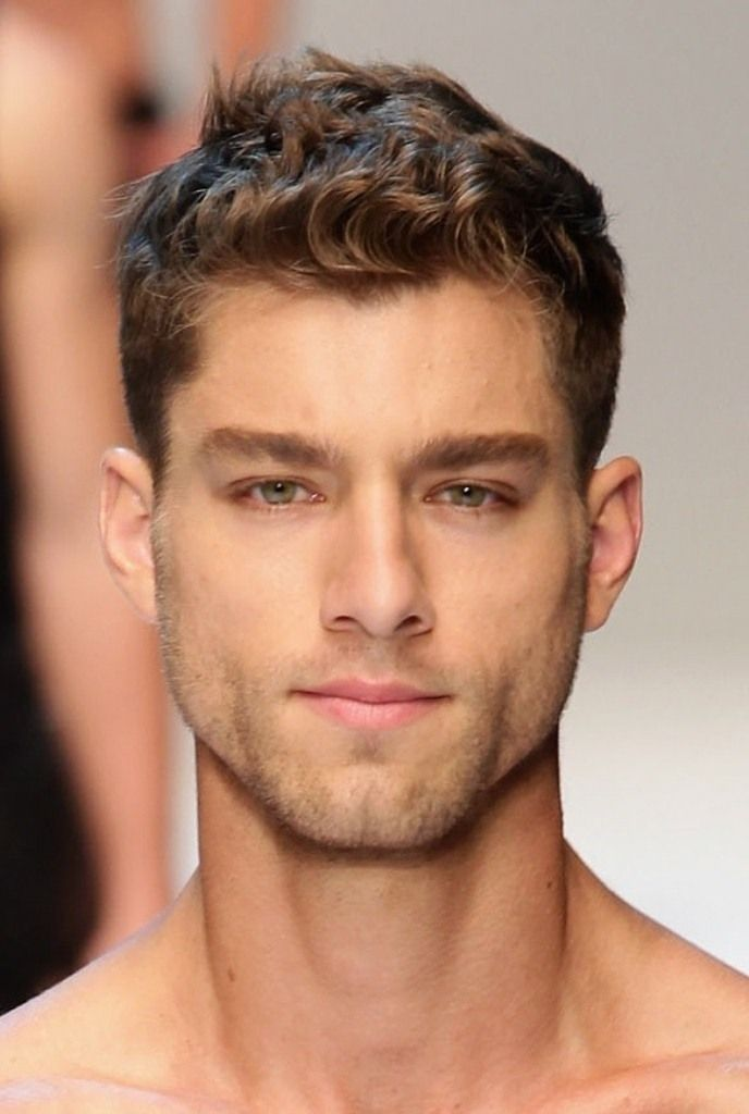 mens hairstyles for thick hair and long face 35182667  Mens   Hair  Pinterest  Thick