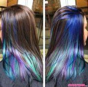 oil slick hair color hidden under