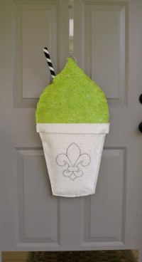 New Orleans Snowball burlap door hanger. $30.00, via Etsy ...