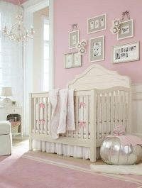 Pretty pink girls nursery | Baby | Pinterest | Pink walls ...