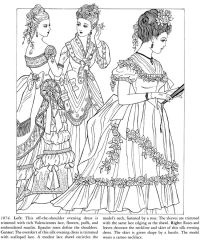 Godey's Fashions Coloring Book Dover Publications ...