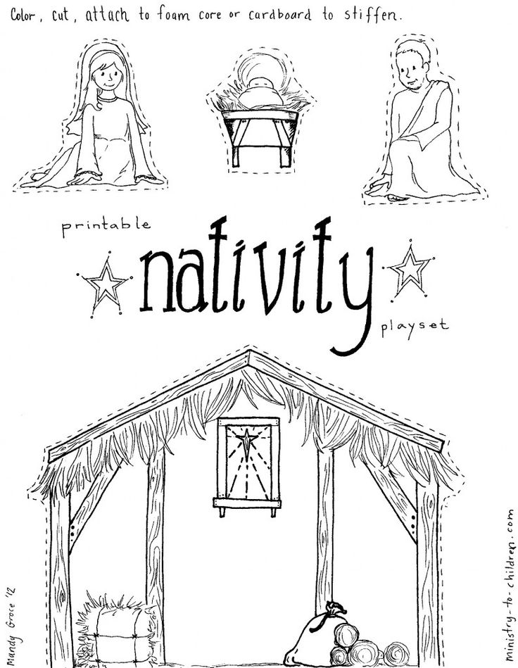 17 Best images about Simple Nativity Crafts for Kids on