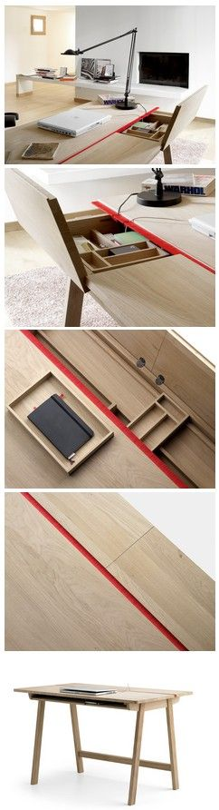 Landa Desk *Good concept, maybe make section transparent, easy to see underneath; attach some lights below, and lightbox!