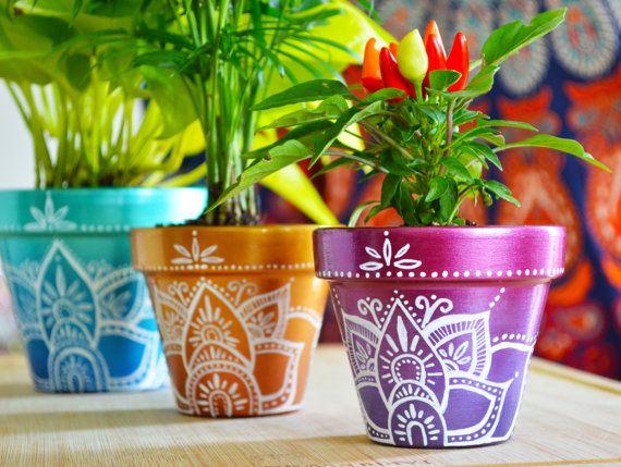 25 Best Ideas About Painted Plant Pots On Pinterest Painted
