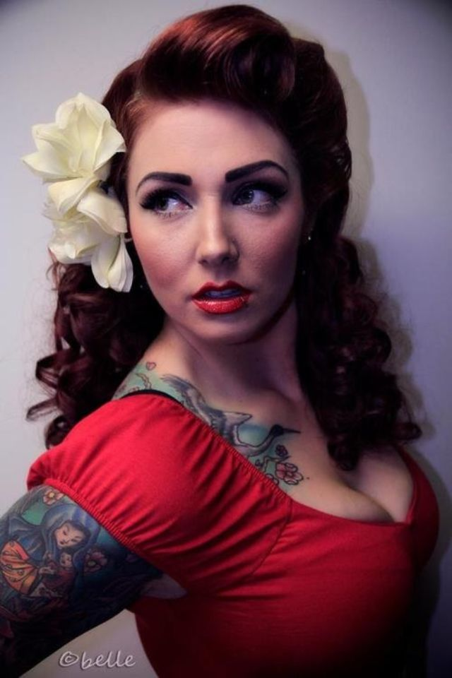 199 best images about Pin Up Girl Hair on Pinterest  Rockabilly Retro hair and Vintage updo