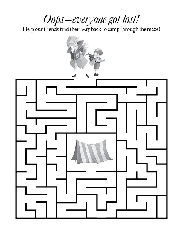 Print out this maze to help our friends find their way