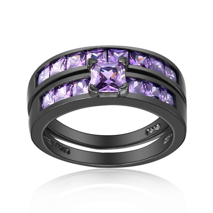 78+ ideas about Purple Wedding Rings on Pinterest