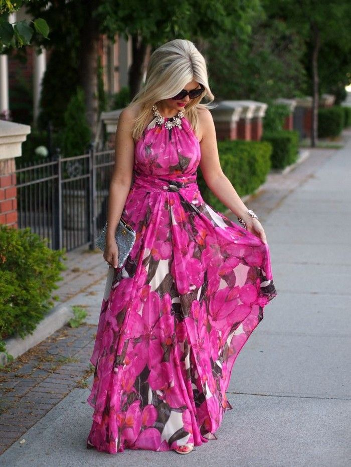 Summer Beach Wedding Guest Dresses With Floral Chiffon Fabric  Style  Pinterest  Wedding