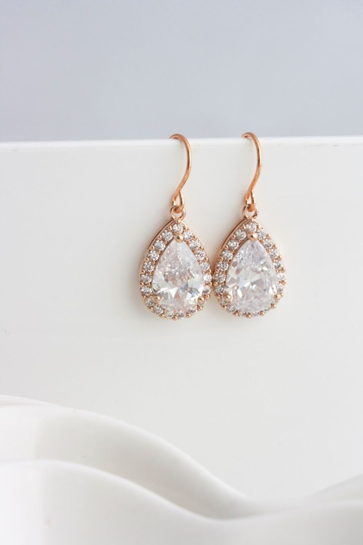 17 Best ideas about Rose Gold Earrings on Pinterest Rose