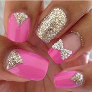 pretty pink with bling nail
