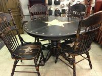 Primitive table   Tables   Pinterest   Table and chairs ...