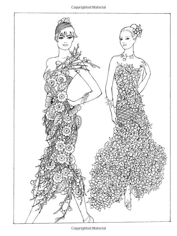 10+ images about Clothing Dress Coloring For Adults Art