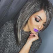 hair goals. grey trend. matte