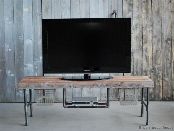 Pipe Tv Wtand Hand Made Industry Tv Media Stand By Urban