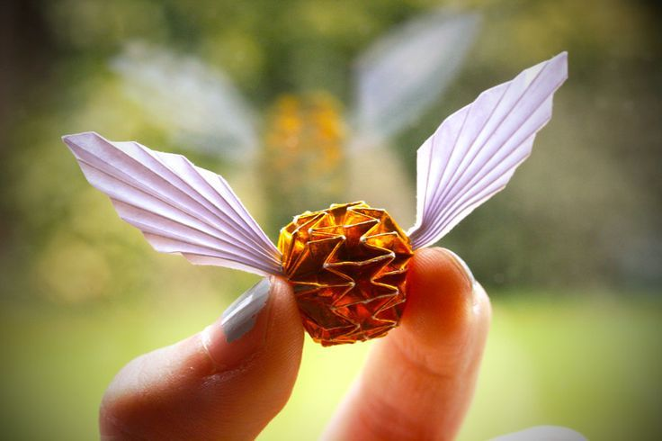 Golden Snitch Origami Harry Potter Harry Potter