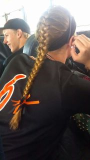 ideas softball braids