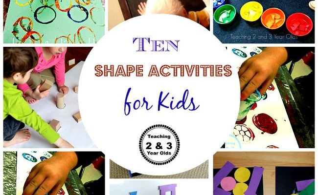 Easy Shape Activities For 2 And 3 Year Olds For Kids