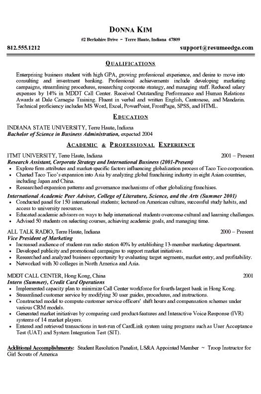 best resume examples - Good Resume Examples