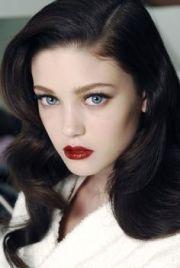 espresso hair blue eyes fair skin