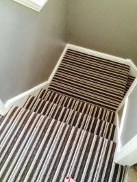 Stripe landing and stair carpet | Hall ideas | Pinterest ...