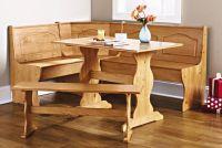Details about Corner Furniture Table Bench Dining Set ...