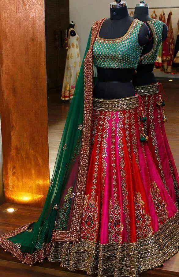 bright beautiful lehenga. Indian weddings