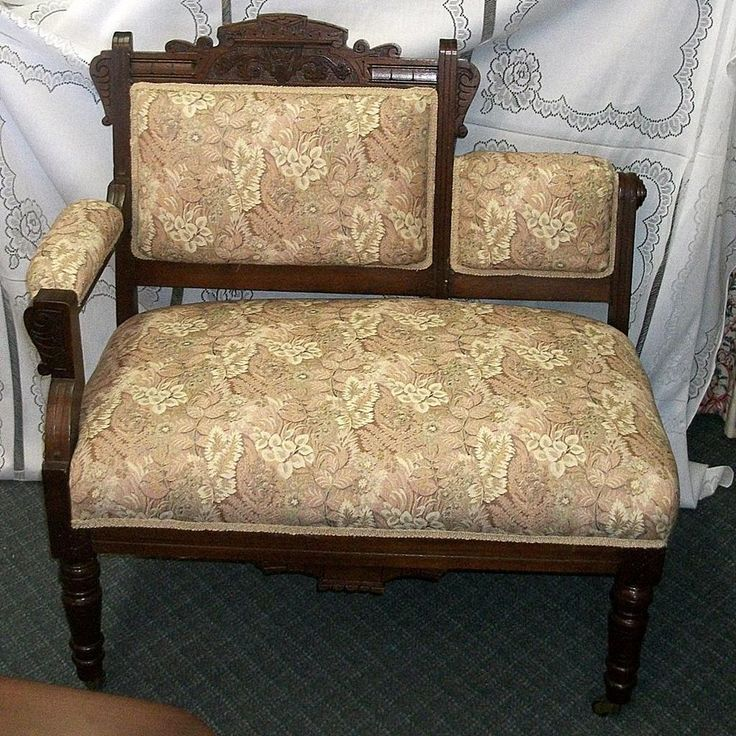settee sofa couch second hand set olx victorian eastlake | benches, gossip bench and settees