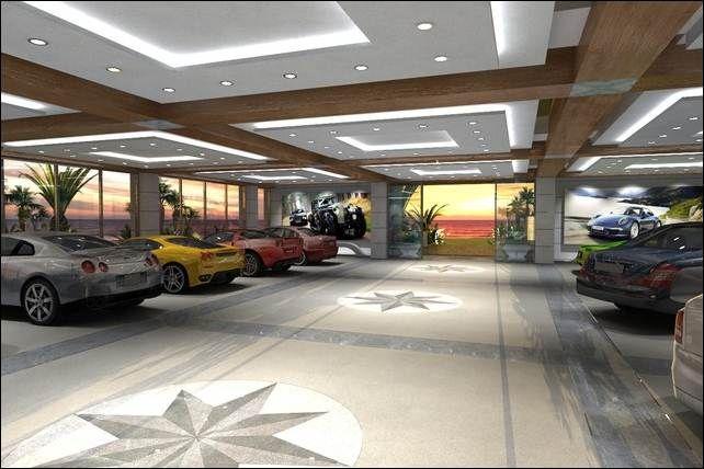 Interior Modern Spacious Garage For Car Collector With