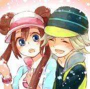 anime couple. surprise hug girl